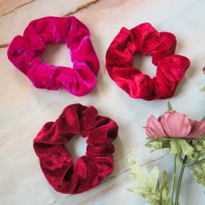 Accessories - Velvet Hair Scrunchies 3pc Set ★Bundle 3 sets/$12